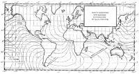 Карта изохрон при выходе в плавание от мыса Лизард