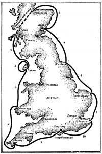 Карта маршрута гонок