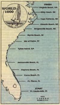 Карта маршрута соревнования «Уорлд-1000»