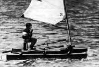 Катамаран «Водомер» на ходу
