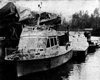 Катер «Фортуна» в ленинградском яхт-клубе перед отправкой в Сочи