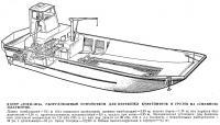Катер «Лохи-101Б» с устройством для перевозки контейнеров и грузов