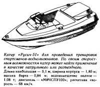 Катер «Русич-51» для проведения тренировок спортсменов-воднолыжников