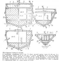 Конструкция корпуса катера