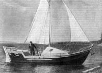 Корабль «Бабр» под парусами