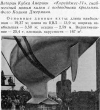 «Корейджес-IV» снабженный новым килем с подводными крыльями