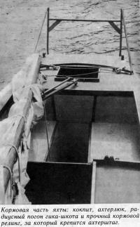 Кормовая часть яхты