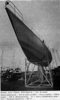 Корпус яхты «Драм». Конструктор — Рон Холланд