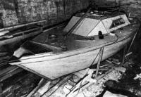 Корпус яхты в процессе постройки