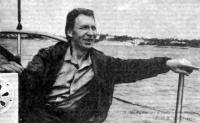 Л. Н. Румянцев у руля «Костромы»