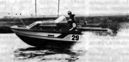 Ленинградский катер «Сигма» в момент гонок