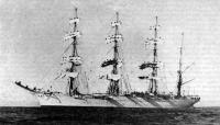 Левый борт барка «Седов»
