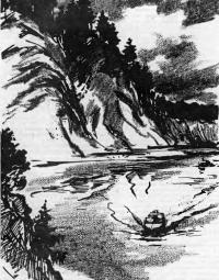 Лодка на реке Чусовой