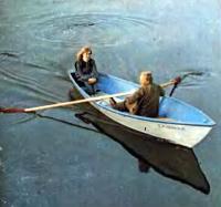 Лодка с двумя пассажирами