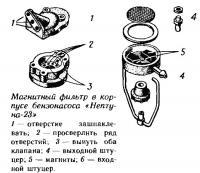 Магнитный фильтр в корпусе бензонасоса «Нептуна-23»
