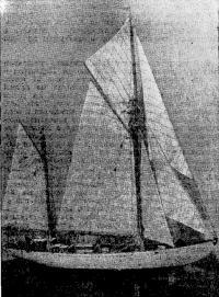 Макет яхты типа «Ударник» (хранится в Центральном яхт-клубе «Труд» в Ленинграде)