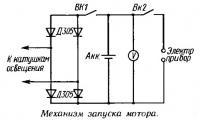 Механизм запуска мотора