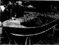 Металлическая лодка «Алкан», выставленная как образец