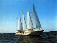 Модель 1:18 четырехмачтового круизного парусника