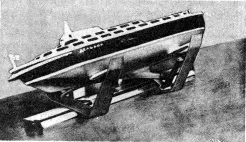 Модель СПК с движителем Болдырева