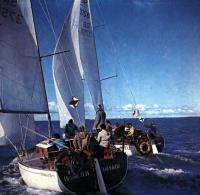 Момент гонок крейсерских яхт в Пярну