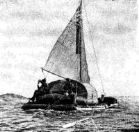 Мореходный парусный катамаран на Каспии
