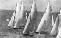 На дистанции яхты класса «Звездный»