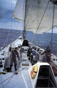 На палубе яхты «Фазиси»