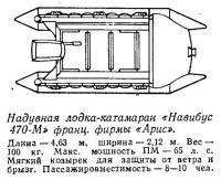 Надувная лодка-катамаран «Навибус 470-М» французской фирмы «Арис»