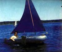 Надувная лодка «Нырок» на ходу