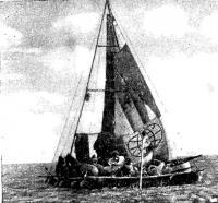 Наш первый плот в Аральском море