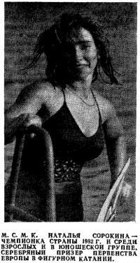 Наталья Сорокина — чемпионка страны 1982 г.