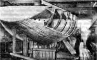 Недостроенный корпус яхты