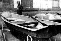 Новая гребная лодка из стеклопластика «Пелла-фиорд»
