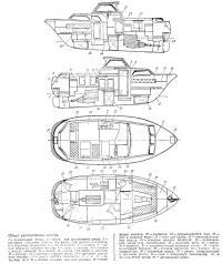 Общее расположение катера «Комет-26»