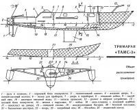 Общее расположение тримарана «Таис-3»