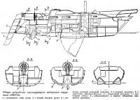 Общее устройство глиссирующего моторного парусника