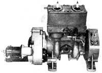 Общий вид двигателя оборудованного электростартером