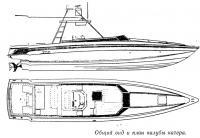 Общий вид и план палубы катера