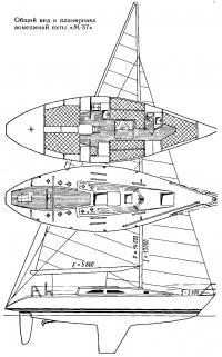 Общий вид и планировка помещений яхты «М-37»