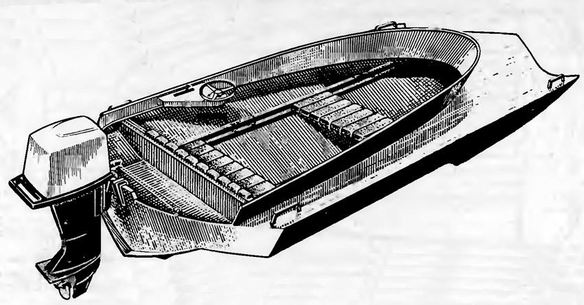 Общий вид мотолодки «Винни-Пух»