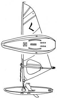 Общий вид серфера-швертбота