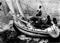 Одна из первых яхт типа «Фёст-30Е» на испытаниях