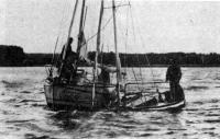 Оказание помощи затопленной яхте