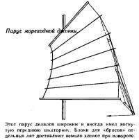 Парус мореходной джонки