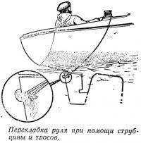 Перекладка руля при помощи струбцины и тросов
