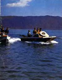 Первый выход на простор озера Севан