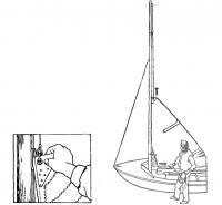 Постановка паруса на мачту