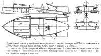 Примерный эскиз устройства экспериментального глиссера «АНТ-1»