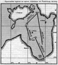 Прокладка курсов во время плавания по Рижскому заливу